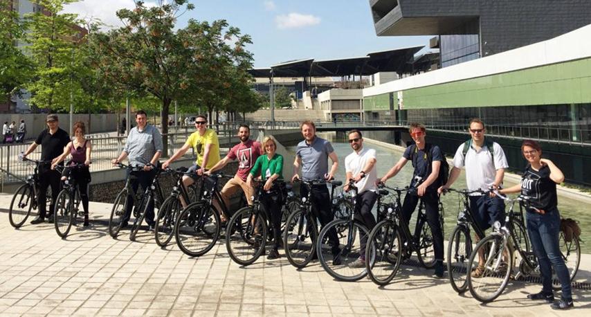 Cycling around Barcelona with Urbidermis