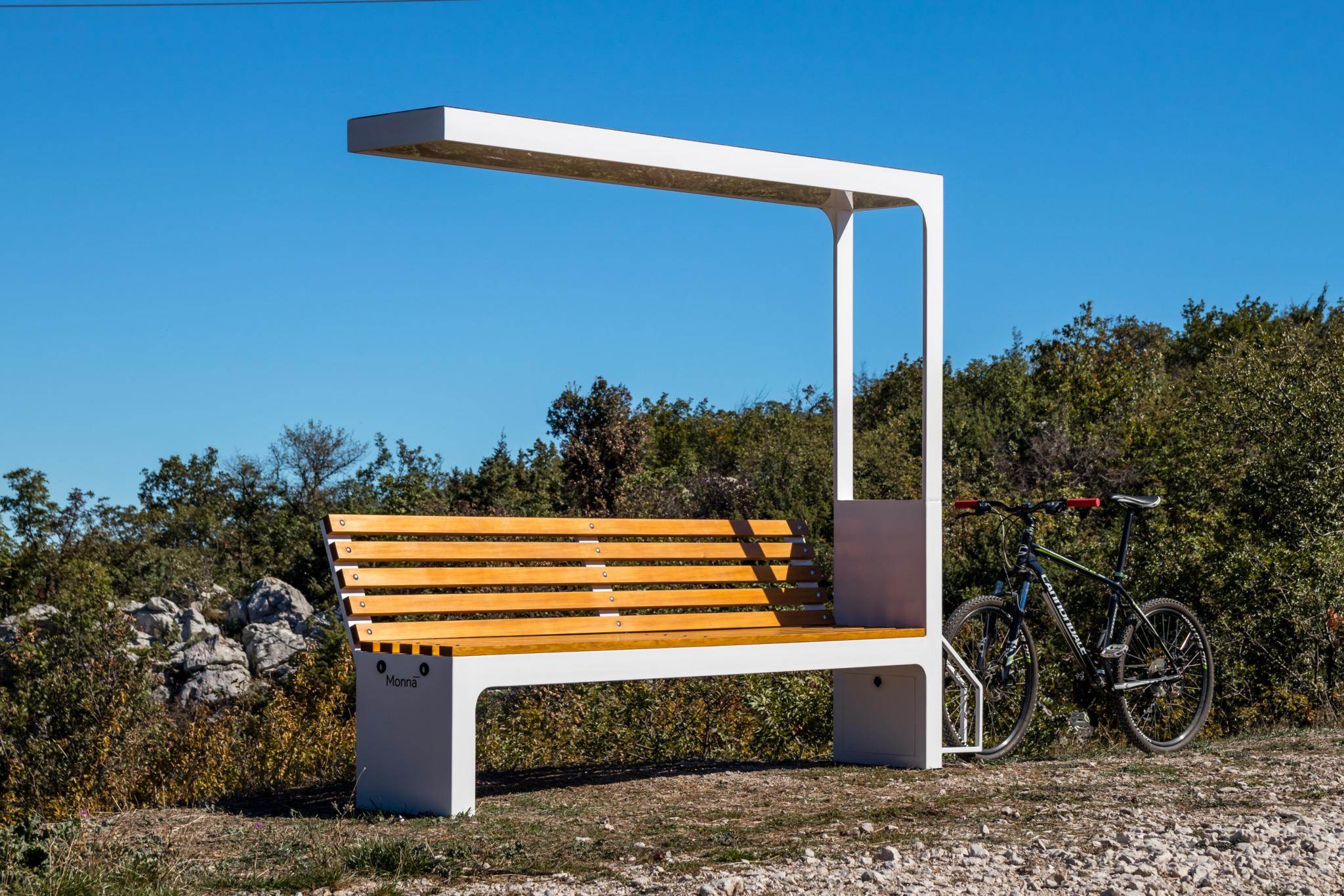 The Include Monna smart cycling point with wireless charger for rural areas