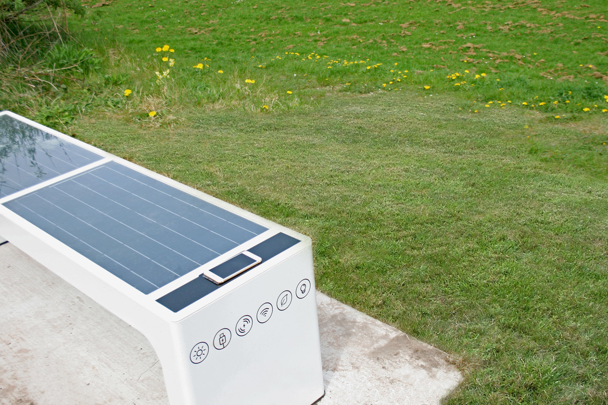 A UK exclusive – All Urban install first smart benches in rural Wales