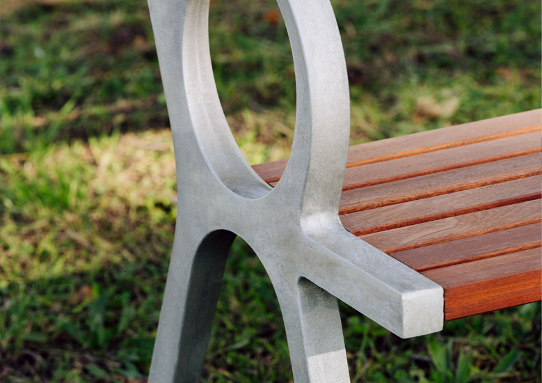 Urbidermis - PeriSphere bench close up