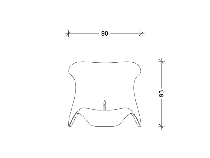 Amorphy Concrete-Chaiselongue Technical drawing