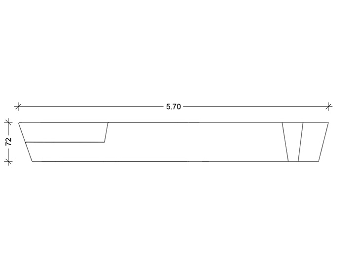 Osa - Concrete-bench Technical drawing