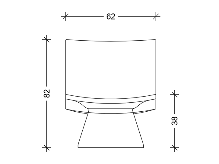 Shorty - Concrete-Chair Technical drawing