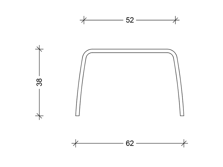 Tabloo Concrete table Technical drawing